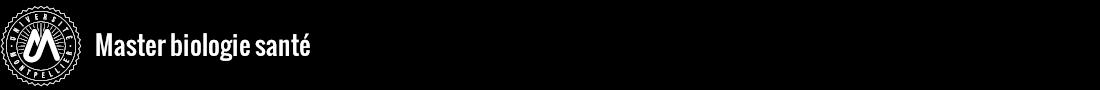 Master biologie santé Logo